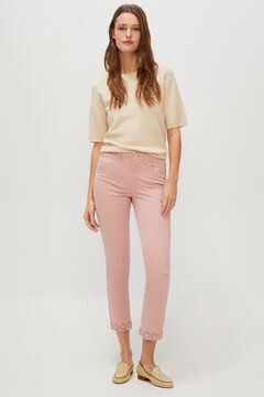 Cortefiel Embroidered jeans Purpura