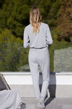 Cortefiel Soft feel elasticated waistband trousers Gray
