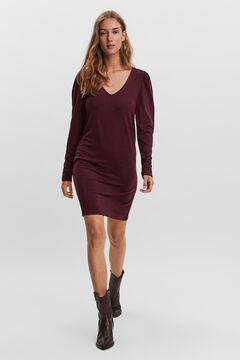 Cortefiel Essential short dress Plum