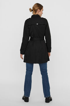 Cortefiel Double breasted trench coat Black