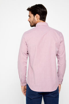 Cortefiel Striped COOLMAX® shirt Red