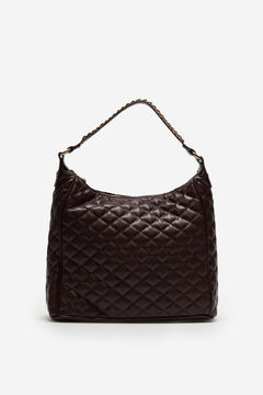 Cortefiel Quilted slouch bag Red