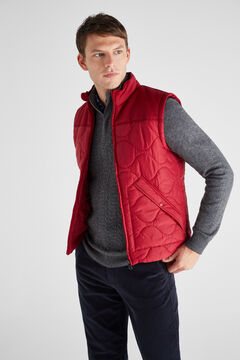 Cortefiel Ultralight contrasting padded vest Orange