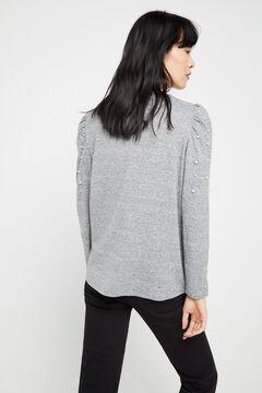 Cortefiel Soft feel pearl top Dark gray