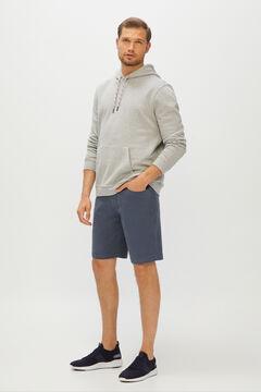 Cortefiel Micro print 5-pocket Bermuda shorts Navy