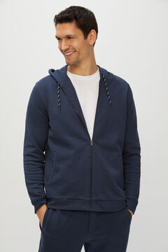 Cortefiel Zipped cardigan Navy