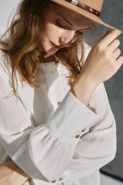 Cortefiel Floaty shirt White