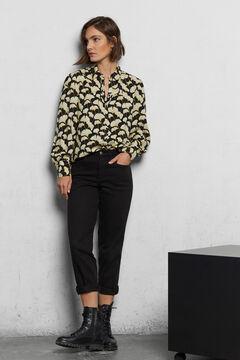 Cortefiel Camisa tecido sustentável Preto