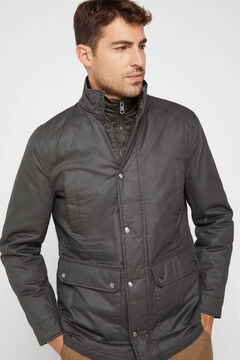 Cortefiel Jacket with removable lining Dark green