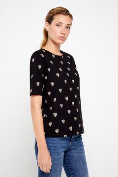 Cortefiel Animal print t-shirt Printed