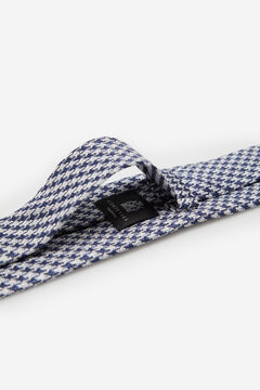 Cortefiel Houndstooth blend tie Royal blue