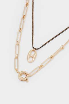 Cortefiel Combined necklace set Beige