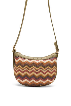 Cortefiel Multicoloured raffia crossbody bag Natural
