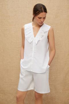 Cortefiel Blusa sin mangas Blanco