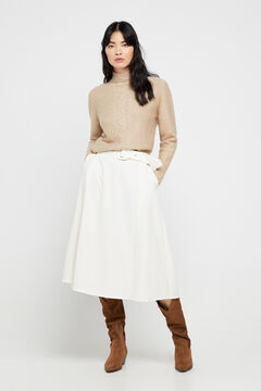 Cortefiel Circle skirt White