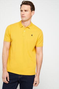 Cortefiel Short-sleeved logo polo shirt Yellow