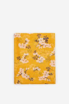 Cortefiel Fular fino estampado flores Amarillo