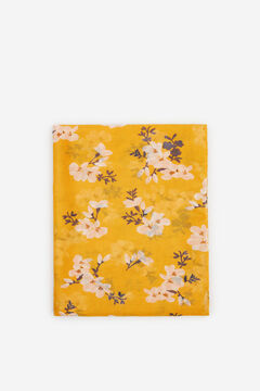 Cortefiel Floral print fine scarf Beige