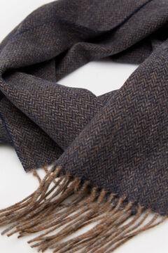 Cortefiel Herringbone scarf Navy