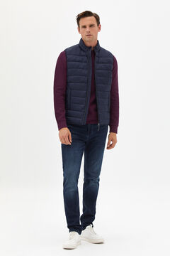 Cortefiel Ultralight quilted gilet Navy