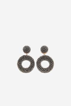 Cortefiel Bead earrings Gray