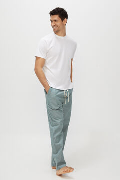 Cortefiel Jersey-knit and cotton pyjamas White