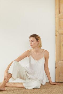 Cortefiel V-neck lingerie top White