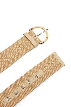 Cortefiel Regular fit hip belt Brown