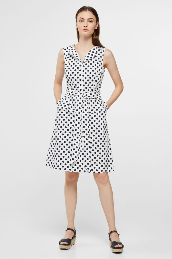 d1c3d0eeba Cortefiel Shift dress White