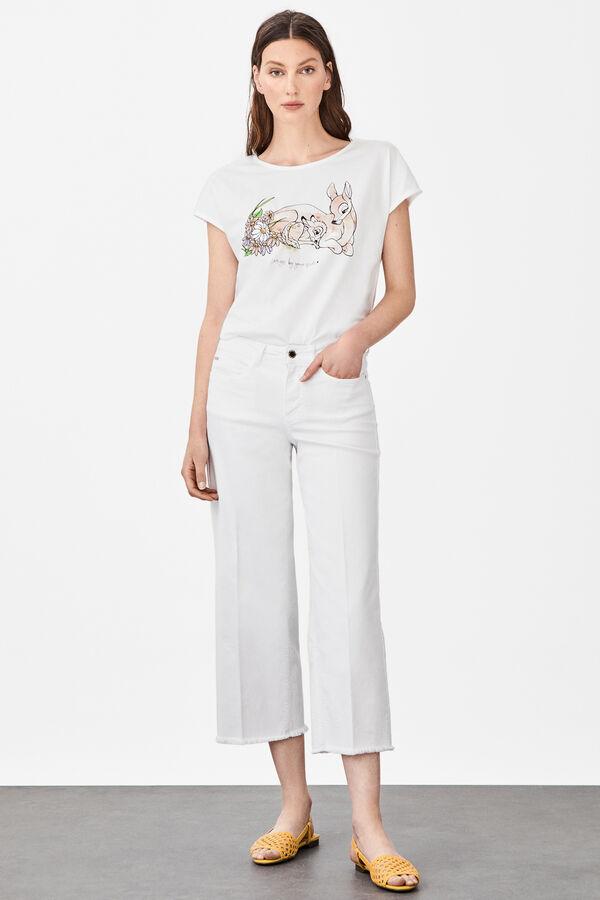 5c83f100b3 Cortefiel Camiseta manga corta disney Blanco