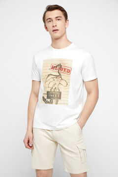 Cortefiel Coyote short-sleeved t-shirt White