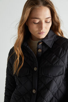 Cortefiel Quilted over garment Black