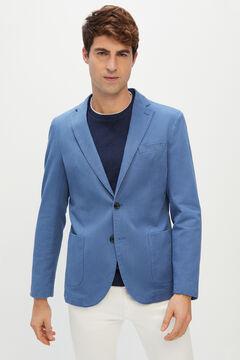 Cortefiel Americana de algodón lavada Azul