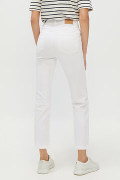 Cortefiel Cropped bell-bottom jeans White