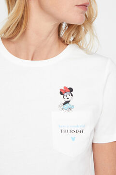 Cortefiel Disney weekdays t-shirt Ecru