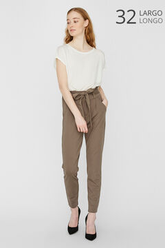 Cortefiel Paperbag trousers Gray