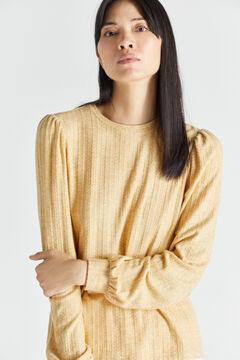 Cortefiel Cross-knit top Yellow