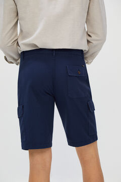 Cortefiel Cargo style colour Bermuda shorts Navy