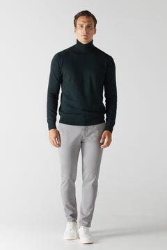 Cortefiel Essential slim fit chinos Gray