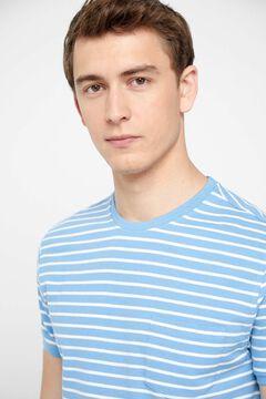 Cortefiel Short-sleeved organic cotton t-shirt Royal blue