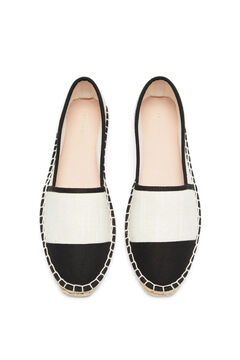 Cortefiel Jute espadrille with contrast toe White