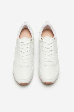 Cortefiel Essential white ultralight trainer White