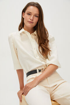 Cortefiel Cropped palazzo jeans White