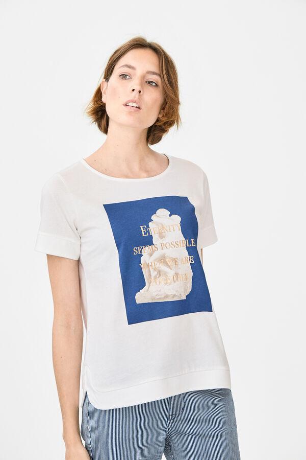 Cortefiel Camiseta manga corta Beige 63d48c4653ac1