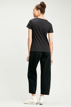 Cortefiel Classic Levi's® logo cotton t-shirt Black