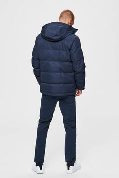 Cortefiel Quilted jacket front pockets Royal blue