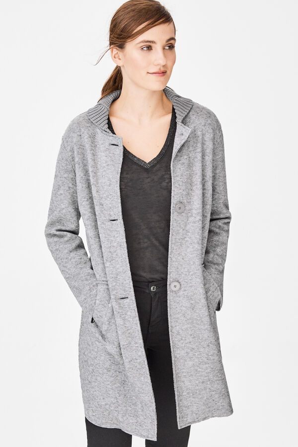 Cortefiel Cárdigan tipo abrigo Gris. Comprar 8c31d40be78b