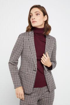 Cortefiel Jersey-knit blazer Ecru