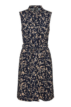 Cortefiel Printed dress Navy