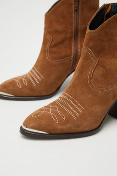 Cortefiel Cowboy ankle boot with heels Mole